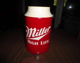 Vintage Miller Genuine Draft Insulated Beer Bottle Holder Drink Holder
