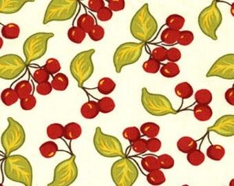 Farmers Market Cherries by Sandi Henderson for Michael Miller Fat Quarter  OOP