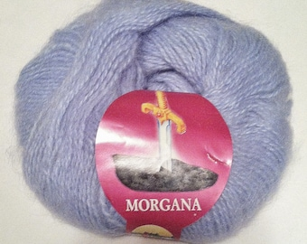 Morgana Mohair Blend Yarn | DUSTY BLUE | Lane Borgosesia | By-the-Skein | Best Selling Item