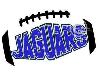 Jaguar Football Svg, Distressed Football Svg, Football Svg, Football Dxf