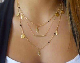 Monogram Gold Layering Necklace