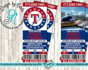 Texas Rangers Invitation / Baseball Invitation