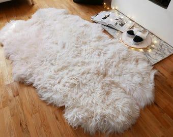 XL sheepskin rug