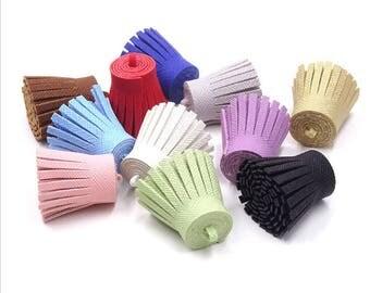 Decorative Tassels - No Cap Tassels - 6 Assorted Color Mix - Textured Tassels for Jewelry, Purse Tassel, Key Chain Tassel - TD-R001