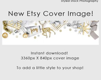 Etsy Cover Photo / Christmas / Etsy Cover Image / Premade / Etsy Banner / Holiday / Shop Banner / Cover Image / Stock Photo / Style-131