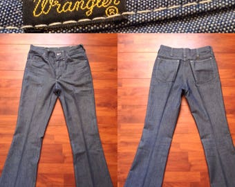 70's Wrangler Bell Bottoms - Fit Like 32W 32L - Made in USA - Vintage Wranglers