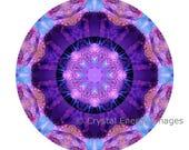 Lemurian Crystal Mandala, 5x5 to 8x8  Photo, Sacred Geometry, Akashic Record, Yoga Art, Metaphysical Art, Meditation Tool, Healing Crystals