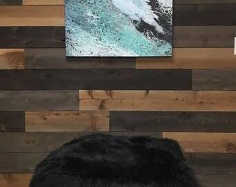 Floor pouf - Ottoman - Faux fur - Floor pouf - Faux fur floor pillow - Large floor pouf