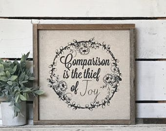 Comparison // 13x13 Handmade Sign