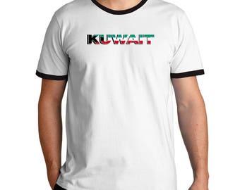 Kuwait country flag Ringer T-Shirt