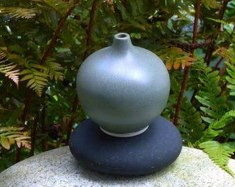 Small gray porcelain bud vases