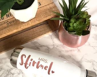 Personalized Stainless Steel Water Bottle | Future Mrs Water Bottle | Travel Water Bottle | Like a Swell Water Bottle | Bridesmaid Gift |