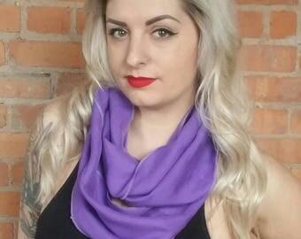 Linen scarf, linen infinity scarf, purple linen scarf, purple linen blend wrap, linen blend scarf, infinity scarf