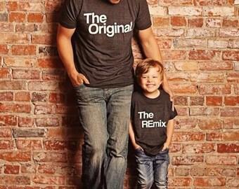 El Original y las Remix camisas, juego de camisetas, padres niños camisas, juego de camisetas de familia, camisetas regalo, Linda camiseta, Mini Me, Tumblr