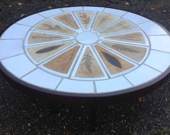 Vintage Signed Ceramic Tiled Table Vallauris France Roger Capron
