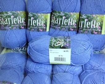 Denim Yarn Mary Maxim Yarn Starlette Light Blue Thick Acrylic Worsted Yarn for Knitting & Crocheting Handmade Accessories