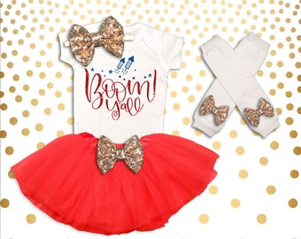 Baby Girl 4th of July Outfit Fourth of July Shirt Girl's Fourth of July Outfit Girl 4th of July Outfit Firework Shirt 4th of July Tutu