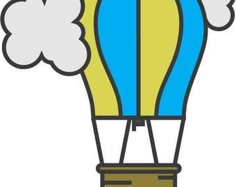 Hot Air Balloon Decal