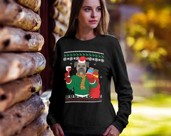 Boxer Dog Ugly Christmas Sweater,Funny Christmas sweater, Ugly xmas dog, Christmas tee, ugly sweater party, Boxer mom, Boxer dog sweatshirt
