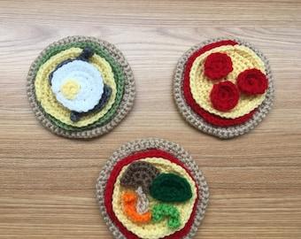 Crochet Play Food Pizza Kit
