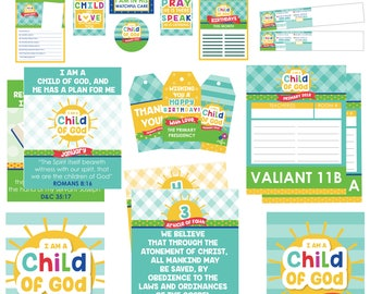 2018 LDS Primary Bundled Package - I am a child of God Printables - Sun Theme - MB