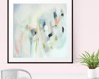 Minimalist Art, Abstract Art Print , Abstract Giclee Print , Modern Art Abstract, Cool Tones, Abstract Wall Art