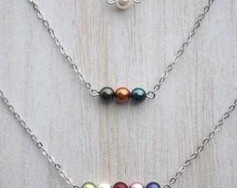 Customizable Swarovski Pearl Birthstone Necklace