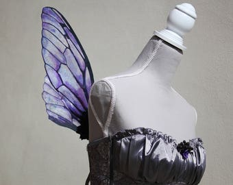 Purple and Blue Fairy Natural Transparent Cicada Fairy Wings - Costume/Fairy - Faerie Cosplay/Wearable Wings
