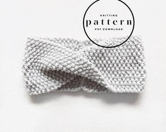 KNITTING PATTERN : Olive Headband / knitting pattern, knitting headband pattern, twisted headband pattern, easy knit pattern, cute headband