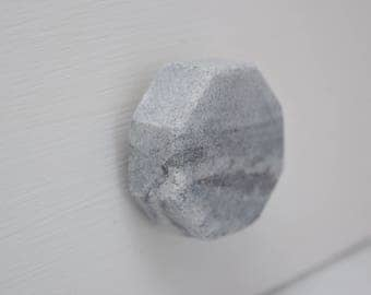 Gray Stone Drawer Knobs, Marble, Drawer Pull, Cabinet Pull, Cabinet Knobs