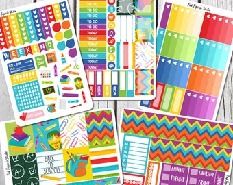 PRE-SALE Back To School Planner Sticker Kit For Erin Condren Life Planner Vertical