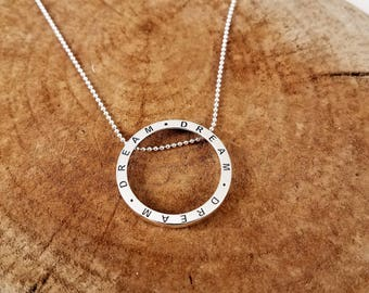 "Round Sterling Silver ""Dream"" Necklace"