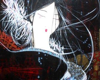 Art Painting Acrylic painting Art original painting acrylic painting - dancing - Asia