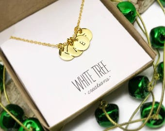 14k gold personalized jewelry two initial chain necklace initial necklace 24 k gold plated customized initial pendant necklace monogram necklace mozeypictures Images