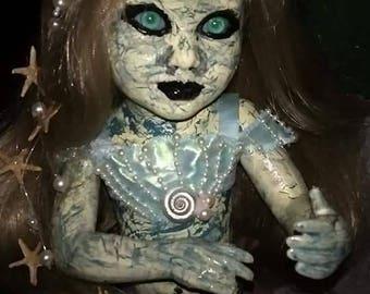 SALE- 15 inch Creepy Mermaid Doll