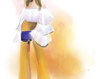 Custom Digital Fashion Illustration Portrait