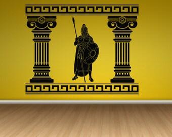 Wall Decal Sticker Italy Italia Europe Venice Rom Milan Roman Warrior Gladiator Spartan  155t