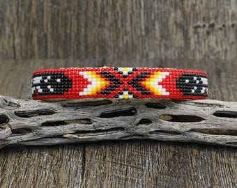 native american jewelry, navajo jewelry,native american beadwork,native american beaded jewelry,navajo bracelet, Navajo Beaded Bracelet