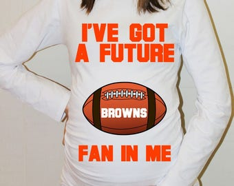 Browns Maternity Shirt Cleveland Browns Baby Future Fan Shirt Baby Boy Cleveland Football Maternity Clothing Pregnancy Shirt Baby Shower