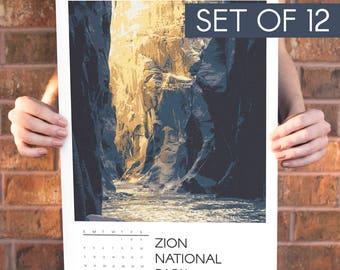 National Parks 2018 Calendar Poster Set 11x17