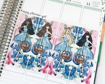 Wonderland Fashion Girls (4 Planner Stickers)