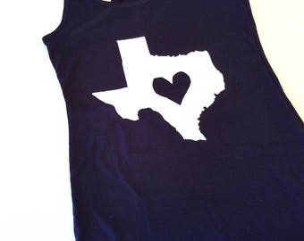 Texas Heart Racerback Tank Top, Cute Workout Tank Top, Cute Gym Tank Top, Hometown Tank Top, Custom State Tank Top, Texas Love Tank Top