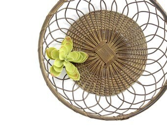 Wire Basket, Woven Metal Fruit Bowl