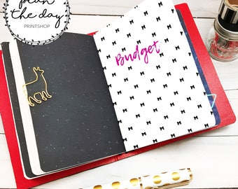 Tiny Bows Insert for Traveler's Notebook in Micro, Passport, Pocket, A6, Personal, B6, Standard, & Cashier