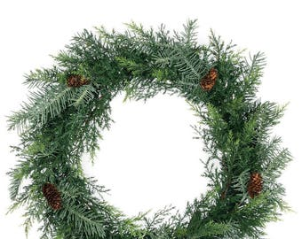 Prickly Pine Silver Wreath 20""