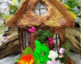 Fairy House night-light illuminated with LEDs miniature house, fantasy FH007