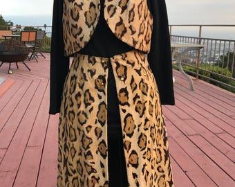 Vinatge 60's Leopard Print Faux Fur 3 piece costume!