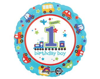 """17"""" Train Party Balloon - Train Birthday Decorations, Transportation Party Supplies, Trains Planes Automobiles Baby Shower First Birthday"""