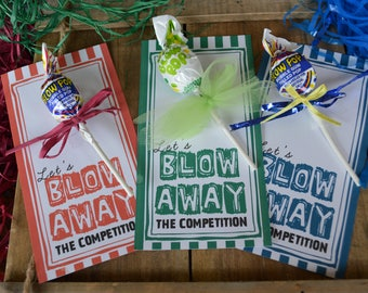 Blow Away the Competition Motivational Team Treat Tags