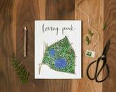 Loring Park Map Art Print